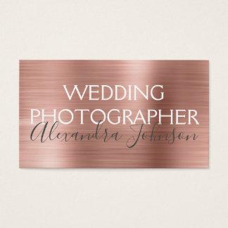 Cartão De Visitas Fotógrafo elegante do casamento do ouro