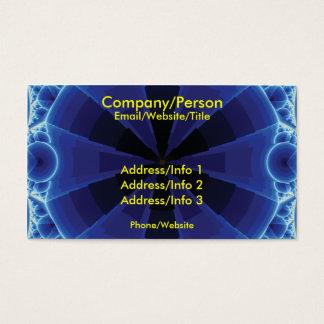 Cartão De Visitas Fractal azul escuro