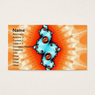 Cartão De Visitas Fractal brilhante