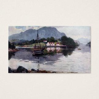 Cartão De Visitas Fuga norueguesa da natureza
