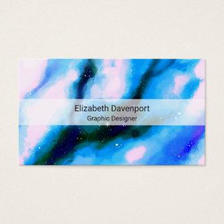 Cartão De Visitas Fundo marmoreado azul do abstrato do espaço