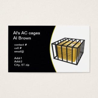 Cartão De Visitas gaiola exterior da segurança da bomba de calor