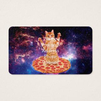 Cartão De Visitas gato da pizza - gato alaranjado - espace o gato
