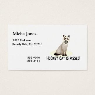 Cartão De Visitas Gato do hóquei mijado