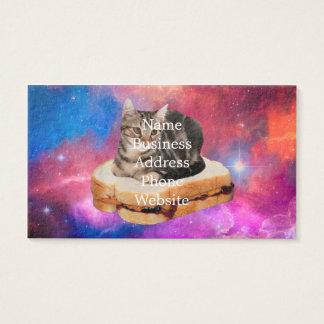 Cartão De Visitas gato do pão - gato do espaço - gatos no espaço