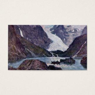 Cartão De Visitas Geleira norueguesa