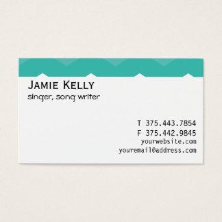 Cartão De Visitas Gema azul do hipster