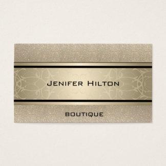 Cartão De Visitas Glittery luxuoso moderno elegante profissional