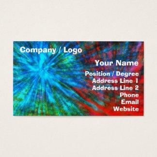 Cartão De Visitas Golpes grandes abstratos 001 coloridos
