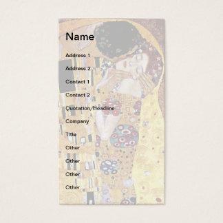 Cartão De Visitas Gustavo Klimt - o beijo - arte Nouveau do vintage