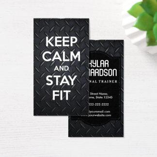Cartão De Visitas Gym de | e instrutor preto e branco modernos da