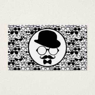 Cartão De Visitas Hipster legal cercado por Eyeglasses