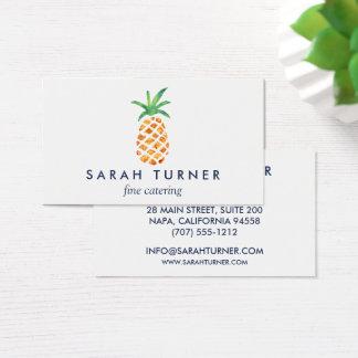 Cartão De Visitas Hospitalidade do fornecedor do abacaxi