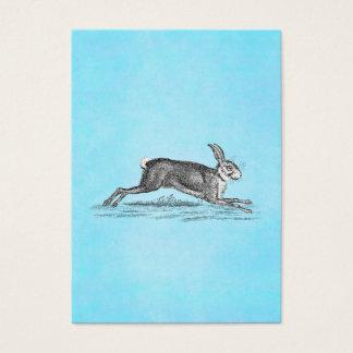 Cartão De Visitas Ilustração do coelho de coelho da lebre do vintage