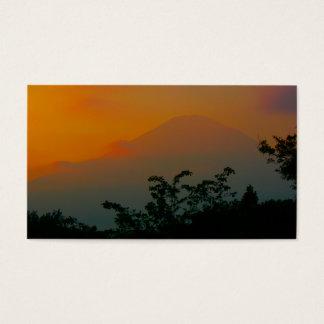 Cartão De Visitas Imagem bonita de Monte Fuji em Japão