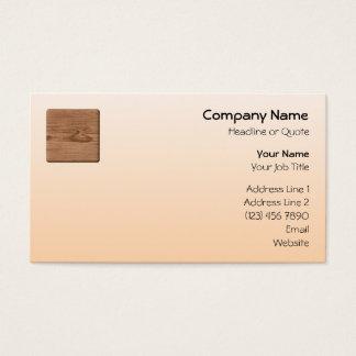 Cartão De Visitas Imagem da madeira de Brown