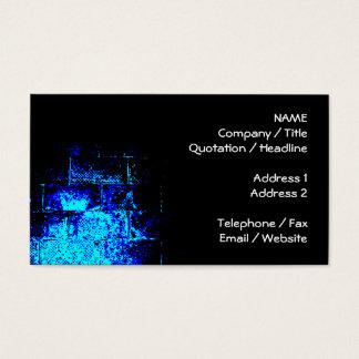 Cartão De Visitas Imagem da parede no azul e no preto. Digitas art.
