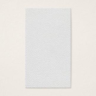 Cartão De Visitas Imagem do couro branco