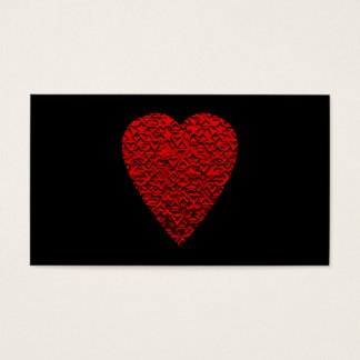 Cartão De Visitas Imagem vermelha brilhante do coração