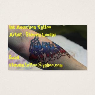 Cartão De Visitas IMG_0758, IMG_0685, artista do tatuagem do vício
