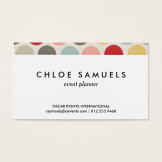 Cartão De Visitas Impressão colorido das bolinhas dos círculos do