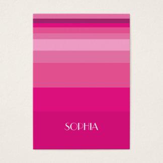 Cartão De Visitas Inclinação moderno do rosa da listra