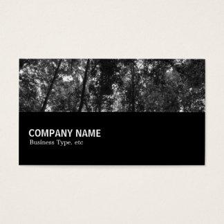 Cartão De Visitas Incompletamente 0102 - Dossel 02 BW da floresta