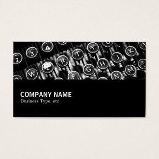 Cartão De Visitas Incompletamente 082 - Máquina de escrever do