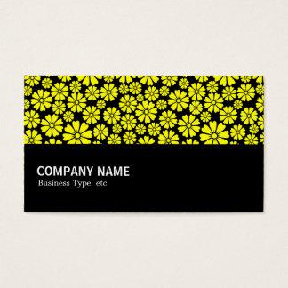 Cartão De Visitas Incompletamente - 8 pétalas - amarelo no preto