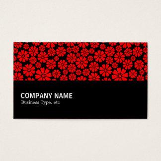 Cartão De Visitas Incompletamente - 8 pétalas - vermelho no preto