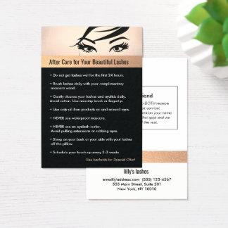 Cartão De Visitas Instruções & referência dos cuidados posteriores