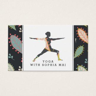 Cartão De Visitas Instrutor moderno na moda da ioga de Boho