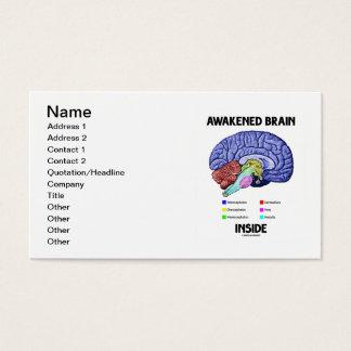 Cartão De Visitas Interior despertado do cérebro (anatomia do