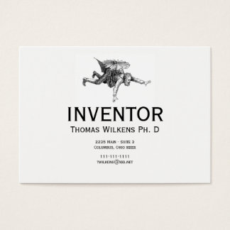 Cartão De Visitas Inventor subtil do vintage