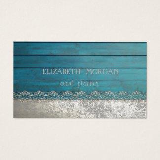 Cartão De Visitas Laço à moda elegante, textura de madeira