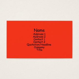 Cartão De Visitas laranja brilhante