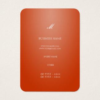 Cartão De Visitas Laranja elegante legal