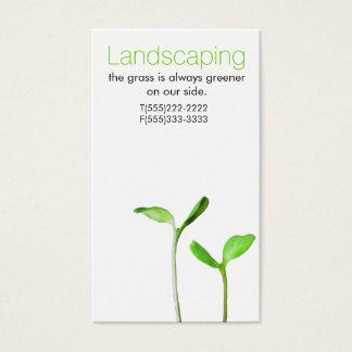 Cartão De Visitas Lawncare que ajardina sprouts verdes da lei
