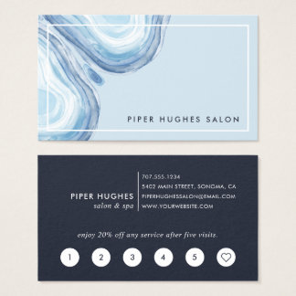 Cartão De Visitas Lealdade azul de Geode   da onda