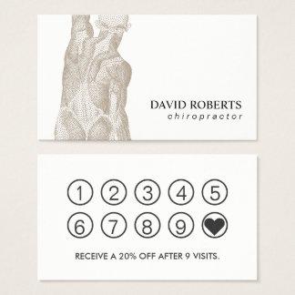 Cartão De Visitas Lealdade da terapia da massagem do Chiropractor da
