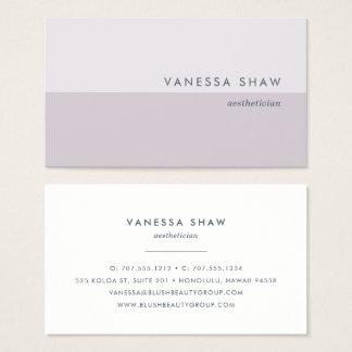 Cartão De Visitas Lilac cinzento | Colorblock moderno