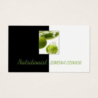 Cartão De Visitas Limão fresco do nutricionista saudável da vida no