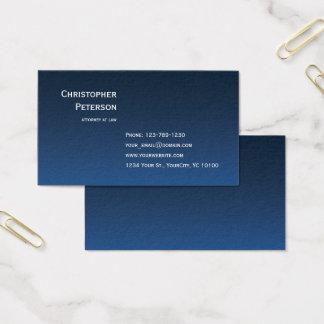 Cartão De Visitas Linha elegante minimalista advogado no escritório