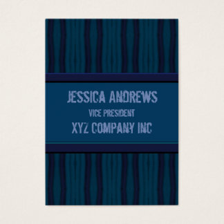 Cartão De Visitas Linhas afligidas retros azuis escuro