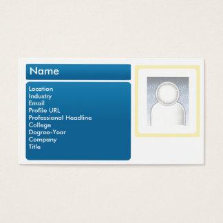 Cartão De Visitas LinkedIn escuro - negócio
