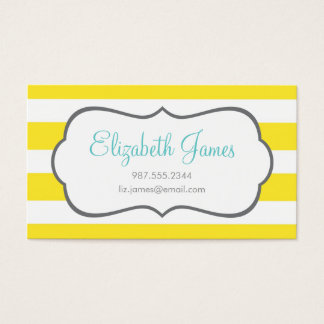 Cartão De Visitas Listra larga amarela