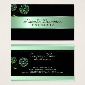 Cartão De Visitas Listra verde Pastel