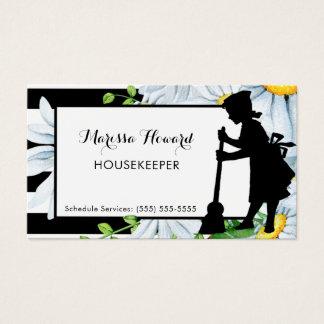 Cartão De Visitas Listras femininos da empregada doméstica e
