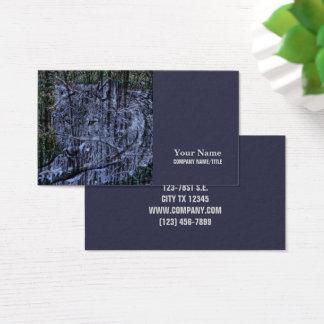Cartão De Visitas Lobo cinzento dos animais selvagens selvagens da