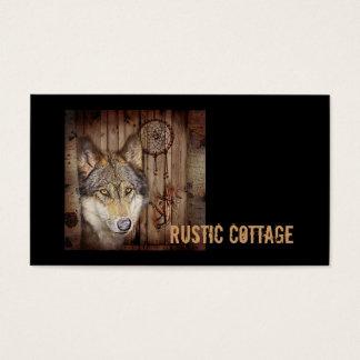 Cartão De Visitas Lobo ideal ocidental do indiano do nativo